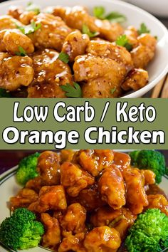 Keto Orange Chicken- This delicious low carb keto orange chicken recipe tastes just like the classic restaurant-style Chinese take out that is keto-friendly and can be enjoyed on your busy weeknights. Keto Orange Chicken All Chicken Recipes Healthy Low Carb Recipes, Low Carb Dinner Recipes, Keto Dinner, Diet Recipes, Low Calorie Chicken Recipes, Crockpot Recipes, Easy Zero Carb Recipes, Simple Low Carb Meals, Health Food Recipes