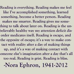 Reading is everything