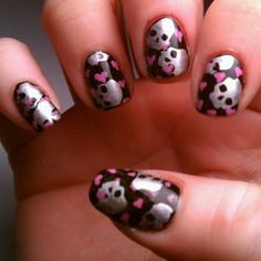 Betsey Johnson inspired nails.