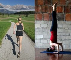 Running and Yoga helps prevents heart disease learn more!