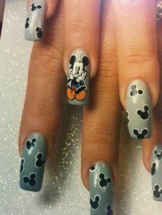 Mickey mouse nail art by susan tumblety