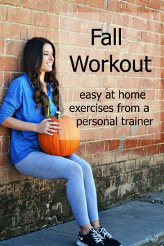 Fall Workout easy at home exercise from a personal trainer via The Shine Project