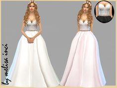 Strapless Lace Bodice Wedding Dress by melisa inci at TSR via Sims 4 Updates Sims 4 Wedding Dress, Bodice Wedding Dress, Lace Bodice, Lace Dress, Wedding Dresses, Sims 4 Mods, Sims 3, Sims 4 Cc Eyes, Sims 4 Dresses
