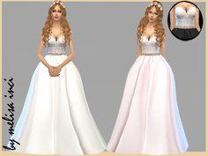 Lana CC Finds - Strapless Lace Bodice Wedding Dress by melisa inci