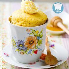 Recetas de Mug Cake de Vainilla - Torta de Vainilla en Taza (Microondas)