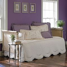 JCPenney: Window & Home Decor, Bedding, Appliances & Clothing Daybed Covers, Purple Walls, Bed & Bath, Guest Room, Master Bedroom, Windows, Couch, Capri, Furniture