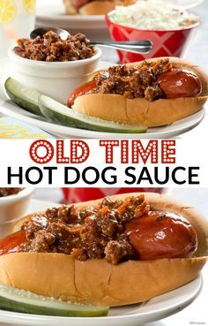 Dress up your hot dog with beefy, flavorful topping and you're sure to impress everyone at your summer potluck. This is one of our most popular hot dog sauces. Hot Dog Sauce, Hot Dog Chili Sauce Recipe, Coney Dog Sauce, Dog Recipes, Sauce Recipes, Cooking Recipes, Chilli Hot Dog, Chili Cheese Dogs, Chili Dogs