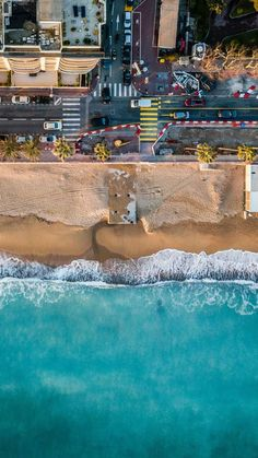 Beach City Drone View iPhone Wallpaper