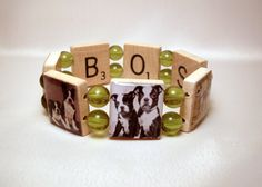 I want this! - BOSTON TERRIER Scrabble Bracelet / UPCYCLED Jewelry / Dog Lover Gift - 2. $18.00, via Etsy.