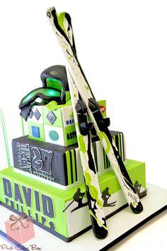 Ski inspired Bar Mitzvah Cake