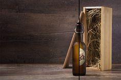 Craft beer bottle mock-up by 1baranov on @creativemarket