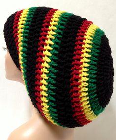 Unisex Crochet Rasta Hat Dreadlocks Hat Bob Marley by Africancrab