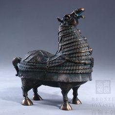Mongolian antique horse statue