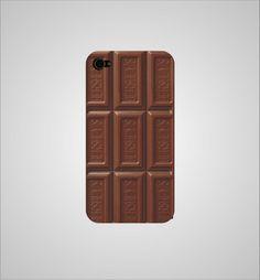 Barra de chocolate para la funda de ty celular. Disponible para iPhone 4, iPhone 5 y Samsung Galaxy.