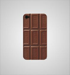 Barra de chocolate para la funda de ty celular. Disponible para iPhone 4, iPhone 5 y Samsung Galaxy.