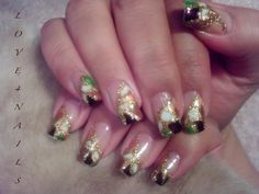 GOLD GLITTER NAIL ART DESIGN by LOVE4NAILS from Nail Art Gallery