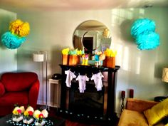 Onesie banner baby shower