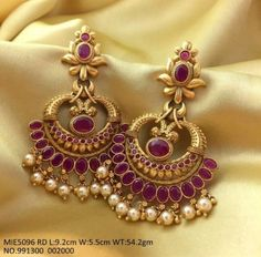 trendy Ideas for wedding rings photography gold Gold Jhumka Earrings, Jewelry Design Earrings, Gold Earrings Designs, Gold Jewellery Design, Gold Necklace, Peacock Jewelry, Peacock Earrings, Gold Jewelry Simple, Jewelry Patterns