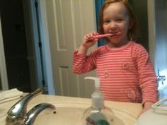 Teaching My Child to Brush Her Teeth and Wash Her Hands