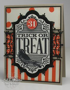Stamp It Halloween Blog Hop with Stampin' Up! Witches' Night, Happy Haunting Designer Series Paper and Spider Web Doilies.  Created by Lori Mueller at www.stampindreams.com