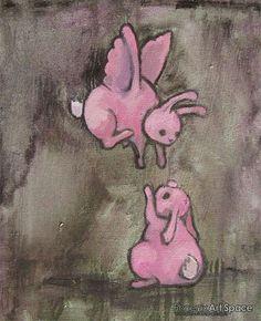 Dark Bunny Art by Jenny Fontana