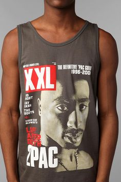 XXL 2Pac Cover Tank Top  #UrbanOutfitters