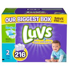 Biggest and the cheapest #Luvs With Ultra Leakguards #Diapers!