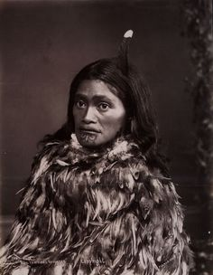 Tai Huia, one of King Tāwhiao's daughters and a Maori princess, in a portrait taken circa 1880
