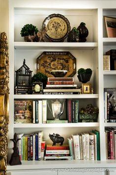 How To Stage Easy + Sensational Bookshelves