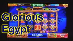 "HOUSE OF FUN Casino Slots How To Play ""GLORIOUS EGYPT"" A Featured   Game"