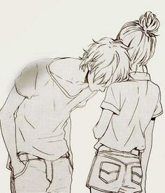 Drawing Boy Girl Awesome Art Pinterest Cute Couple