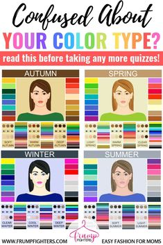 Simple & Easy: How Seasonal Color Analysis Works (+ the Different Methods Explained) — Frump Fighters Color Me Beautiful, Color Combinations For Clothes, Color Combos, Color Trends, Paleta Deep Winter, Spring Color Palette, Summer Color Palettes, Light Spring Palette, Cool Winter Color Palette