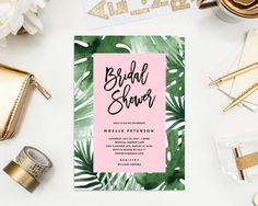 Tropics Bridal Shower Invitation by fineanddandypaperie on Etsy