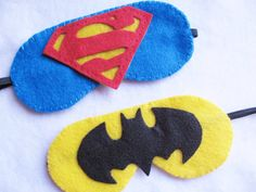 Felt Superhero Pinata Blindfold or Sleep Eye Mask Handmade via Etsy