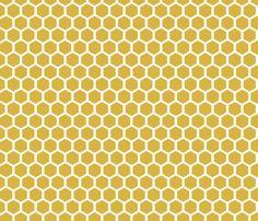 GoldenHoneycomb fabric by mrshervi on Spoonflower - custom fabric