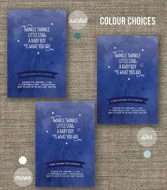 Twinkle Twinkle Little Star boy baby shower invitation - pdf printable invite. $18.00, via Etsy.