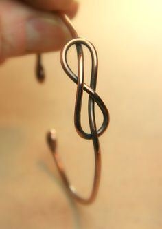 Copper Infinity Knot Bangle Bracelet  Unisex by AllowingArtDesigns, $22.00