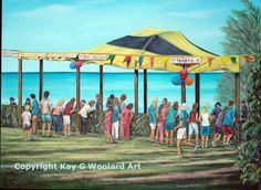 Hoopla 18 x 24 acrylic painting