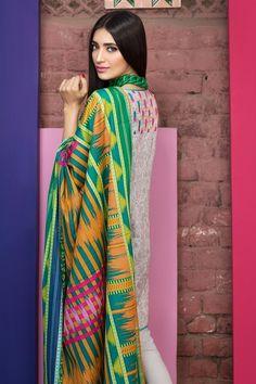 Khaadi 3 Piece Stitched Embroidered Lawn Suit - B17210 - GREY - libasco.com #khaadi #khaadionline #khadiclothes #khaadi2017 #kaadisummer