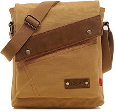 EcoCity Vintage Small Canvas Messenger Bags Crossbody Sho...