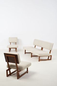 André Sornay, sofa and chairs, 1950s