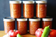 Salsa for Canning. Our favorite salsa for canning-- so you can enjoy the flavors of summer all year! Canning Salsa, Home Canning, Canning Tomatoes, Canning 101, Canned Salsa Recipes, Canning Recipes, Salsa Recipie, Stuffed Anaheim Peppers, Stuffed Peppers