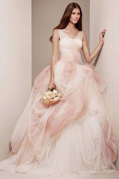 Vera Wang blush wedding gown!