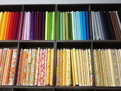 fabrics on display at The Workroom, Toronto.