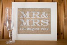 Shabby Chic Personalised Wedding Sampler  Mr by stitchedupbyleona, £30.00