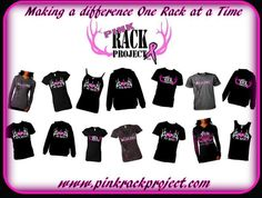 October is breast cancer awareness month!! Lets make a difference one rack at a time!!! Order your shirts today and help those battling breast cancer financially! www.pinkrackproject.com Make a difference today. #pinkrackproject #breast #cancer #hunting #pink