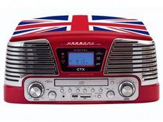 Sistema de Áudio CTX England CD Player - com MP3 Vinil Radio FM e Entrada Pen-Drive com as melhores condições você encontra no Magazine Sualojaverde. Confira!