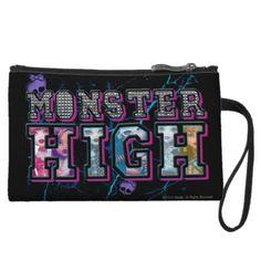 #MonsterHigh Studded Graphic Wristlet Purses
