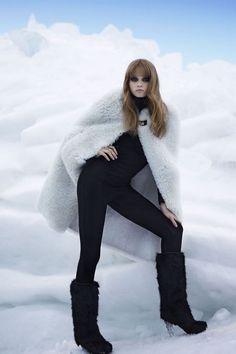 Abbey Lee Kershaw by Karl Lagerfeld in The Big Chill Fur Fashion, Fashion Shoot, Love Fashion, Editorial Fashion, High Fashion, Winter Fashion, Fashion 2016, Abbey Lee Kershaw, Big Chill