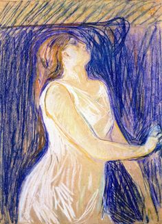 The Athenaeum - Study of a Model (Edvard Munch - )